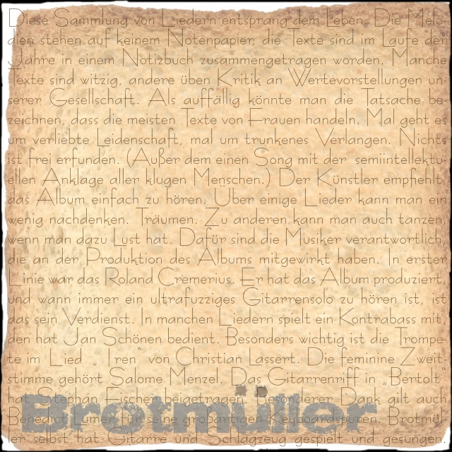 Brotmüller_erstes Album